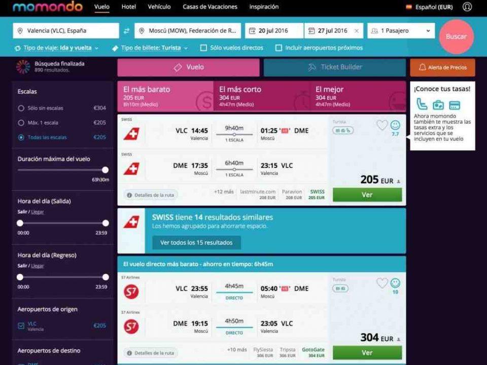 ¿Cuál es el mejor buscador de vuelos?
