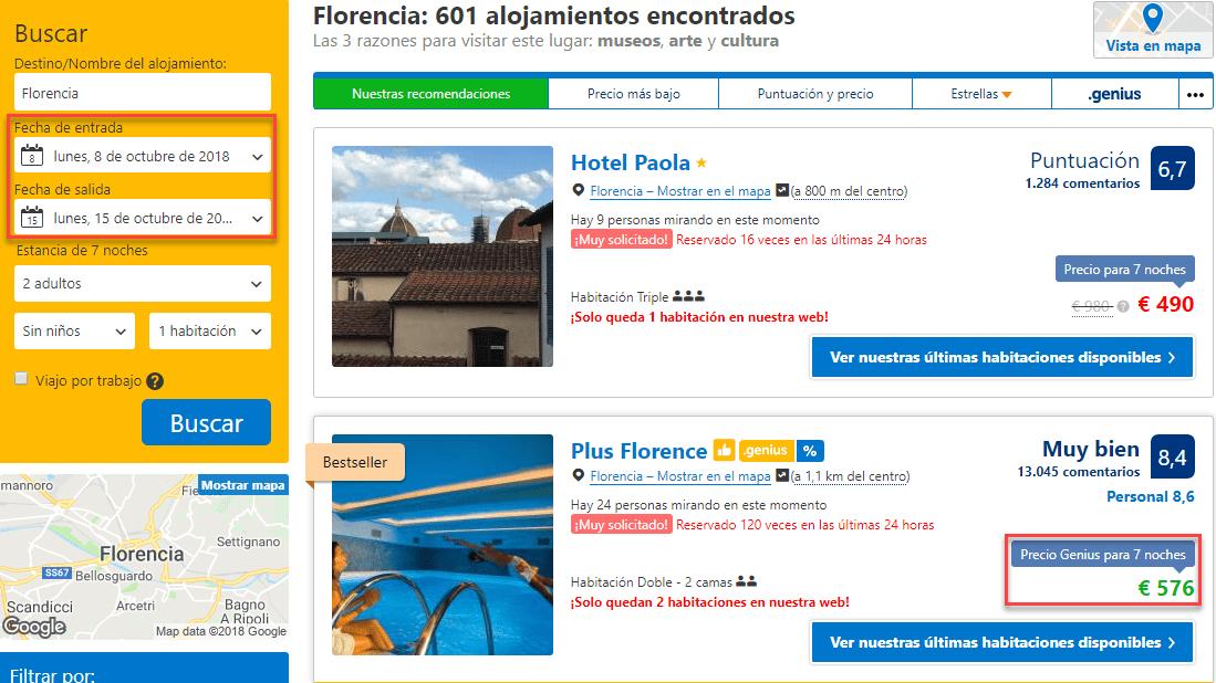¿Cuáles son los días más baratos para reservar hotel?